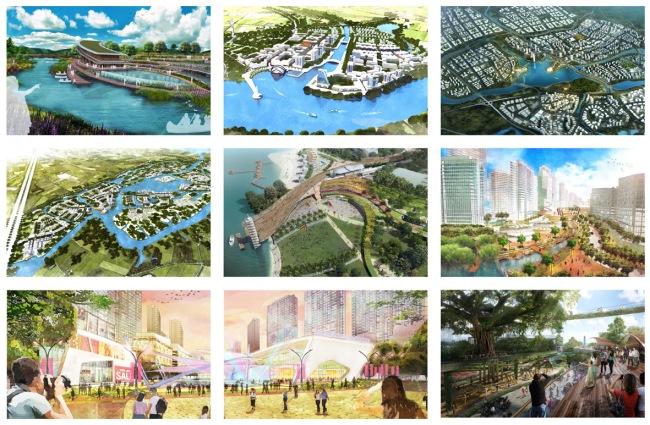 Một số dự án thiết kế do tôi thực hiện tại châu Á. Bốn trong số các quy hoạch/thiết kế đô thị mà tôi thực hiện giờ đây có thể nhìn thấy trên Google Maps.