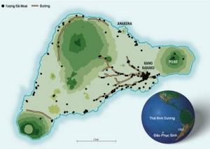 Vị trí đảo Phục Sinh trong Thái Bình Dương