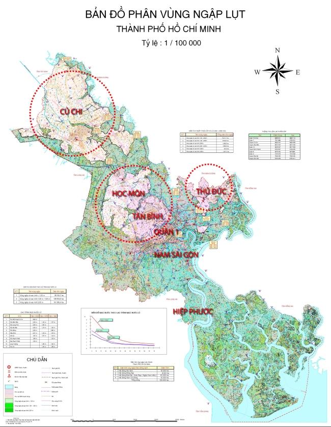 70% diện tích thành phố Hồ Chí Minh nằm trong vùng ngập triều