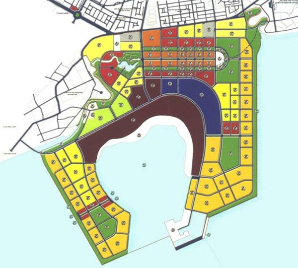 """Quy hoạch một khu đô thị du lịch ven biển do một đơn vị tư vấn """"nội"""" thực hiện với thiết kế """"chia lô"""" thuần túy, thiếu tính toán về tầm nhìn thị giác và khai thác cảnh quan."""