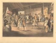 Hát Tuồng ở xứ Đàng Trong. Nguồn: William Alexander (painter) (1767–1816). A voyage to Cochinchina in the years 1792 and 1793 p 296-297. Trích lại từ wikipedia.org