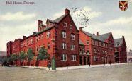 Hull House tại Chicago do Jane Addams thành lập vào năm 1889 bao gồm 13 tòa nhà với nhiều dịch vụ xã hội như dạy nghề cho phụ nữ, day ngôn ngữ và văn hóa cho người nhập cư, dạy học phổ thông cho trẻ em. Tòa nhà còn có cả phòng tập thể dục, nhà hát, lớp học âm nhạc, lớp học vẽ và một vườn ươm cây. Chính từ dự án này mà Jane Addams đã khởi đầu ý tưởng rằng một số dịch vụ cần phải được cung cấp ở cấp độ cộng đồng.
