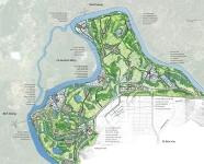 Bản đồ minh họa mặt bằng phương án quy hoạch vùng Phước Giang
