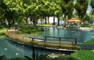 Phối cảnh khu hồ trong công viên trung tâm