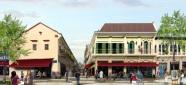Phối cảnh của một khu vực cải tạo ở đường Phú Định