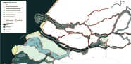 Kịch bản 3: Duy trì vai trò của Nieuwe Maas và Nieuwe Waterweg như các kênh thoát nước chính, nâng cấp các con đê hiện hữu