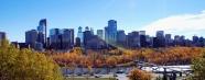 Hình 5: Trung tâm thành phố Calgary vào mùa thu 2007. Nguồn: tác giả.