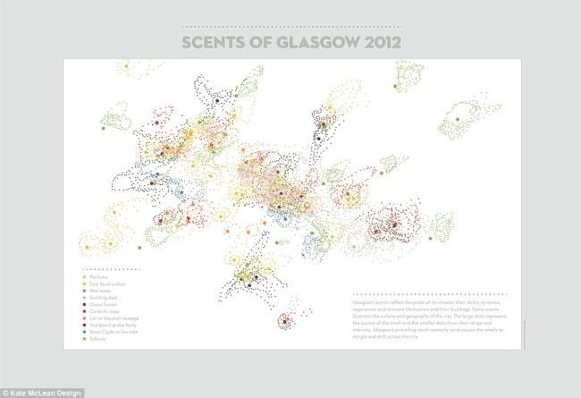 """Và kết quả là bản đồ """"Hương vị Glasgow""""."""