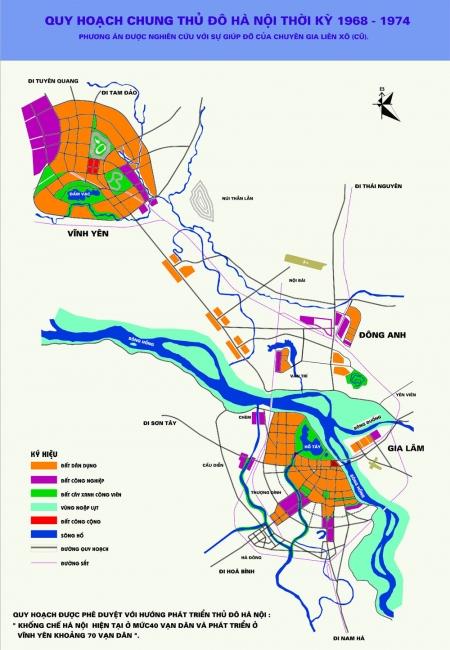 Quy hoạch Hà Nội thời kỳ 1968 - 1974