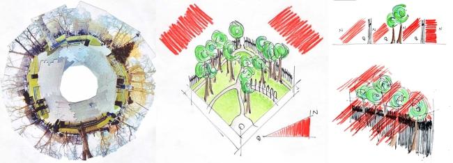Khảo sát tiếng ồn tại công viên Russell, London của Laura Lewis & Harvey Ward Turner.