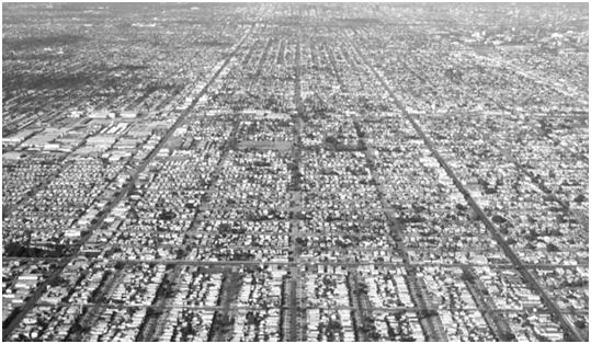 Hình 31.5 Đô thị Los Angeles trải dài vô tận. Nguồn: Reid Ewing