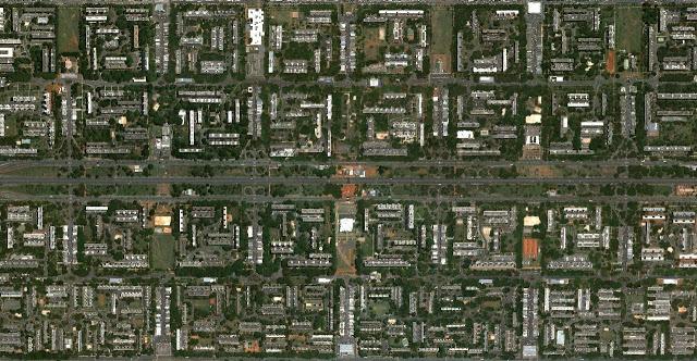 Hành lang đô thị phía nam thành phố - Ảnh vệ tinh