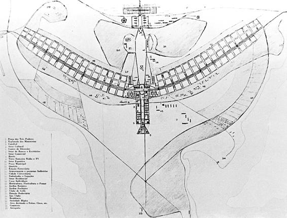 Bản quy hoạch gốc của Lucio Costa