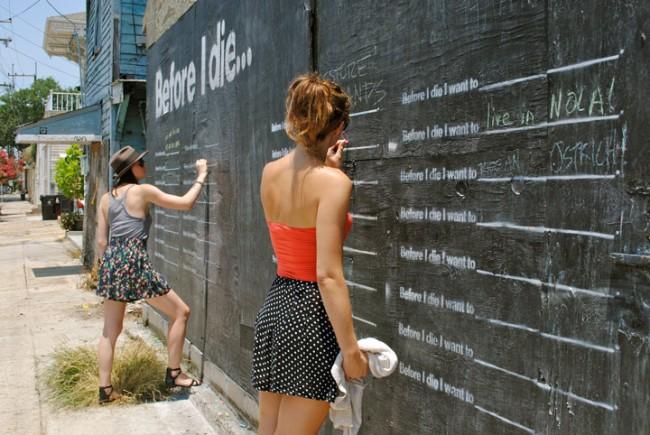 """Bức tường """"Trước khi tôi chết"""" đầu tiên ngay trong khu dân cư mà Candy sống tại New Orleans"""