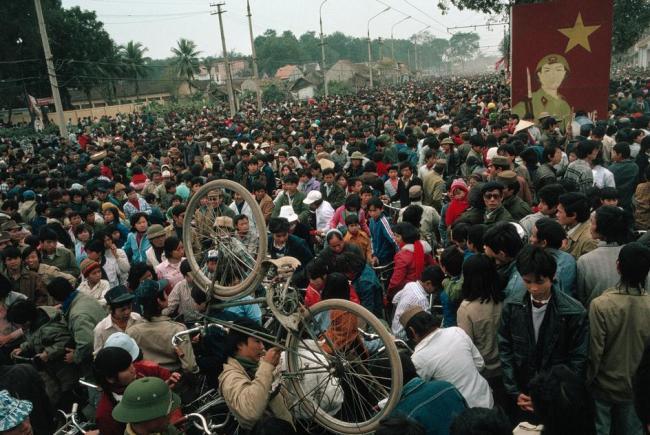 """Cảnh tượng """"đông như Tết"""" ở Hà Nội."""
