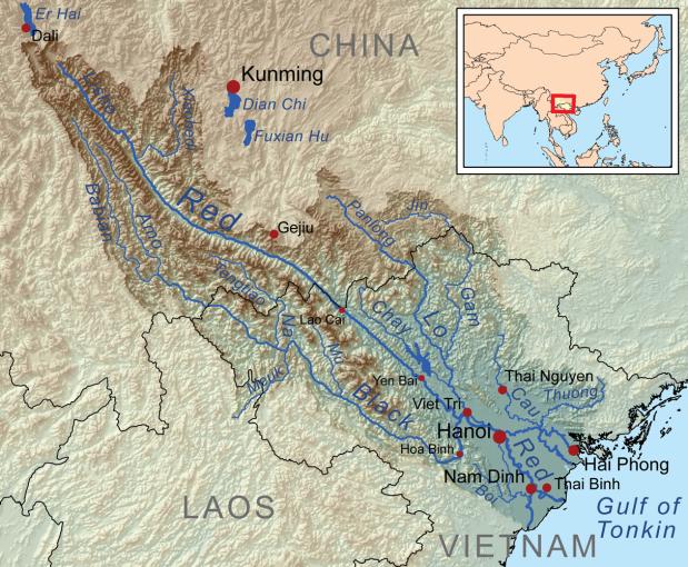 Bản đồ lưu vực sông Hồng
