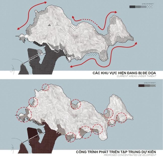 Các khu vực bị đe dọa. Nguồn: Viện QH Đà Nẵng