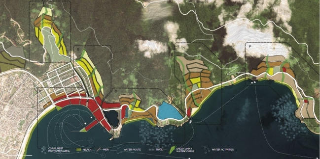 Quy hoạch khu vực vịnh phía Nam. Nguồn: Viện Quy hoạch Đà Nẵng
