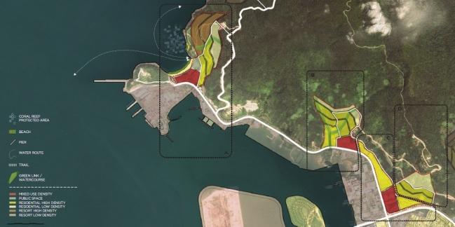 Quy hoạch khu vực vịnh phía Tây. Nguồn: Viện Quy hoạch Đà Nẵng