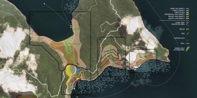 Quy hoạch khu vực mũi phía Đông. Nguồn: Viện Quy hoạch Đà Nẵng