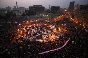 Quảng trường Tahrir trong những ngày bị người biểu tình chống chính phủ chiếm cứ