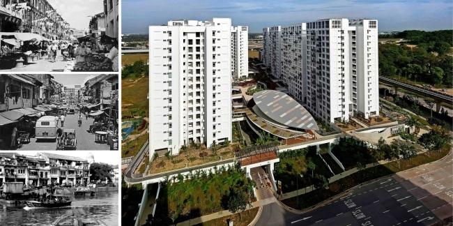 Khu chưng cư Treelodge ở Punggol là thế hệ nhà ở xã hội mới nhất ở Singapore với chất lượng tương đương nếu không phải là cao hơn chung cư cao cấp tại các thành phố khác trong vùng. Bên phía phải khu nhà là đường tàu điện LRT kết nối các khu này với dịch vụ công cộng và việc làm.
