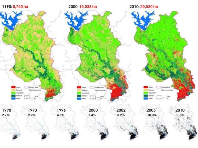Tiến trình phát triển đô thị tại tp HCM trong 20 phát triển nhanh từ 1990 tới 2010