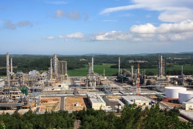 Cụm công nghiệp lọc hóa dầu tại Dung Quất